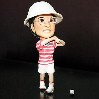 高爾夫球公仔-女生公仔